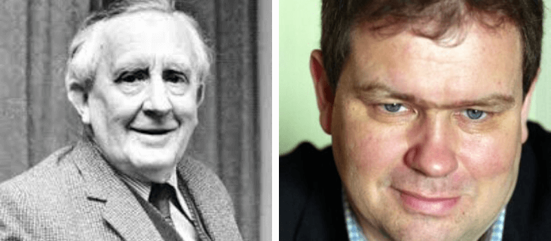 John Ronald Reuel Tolkien y su nieto Simón Tolkien